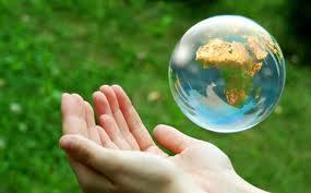 zeepbel met wereld
